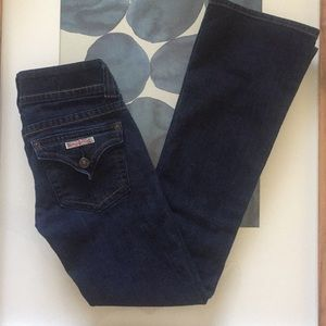 HUDSON Dark Wash Button Bootcut Denim Jeans 24